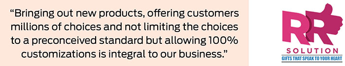 """""""One Hundred percent customizations is integral to our business"""" 2"""