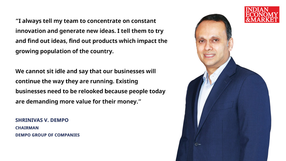 Shrinivas V. Dempo, Chairman of the Dempo Group of Companies
