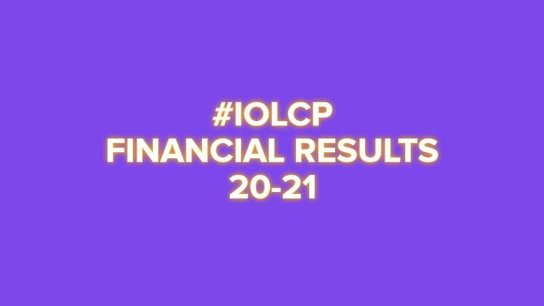 IOL Chemicals Financial Results (Year ended FY 20-21) #IOLCP