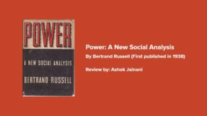 Power: A New Social Analysis by Bertrand Russell (First Published in 1938)