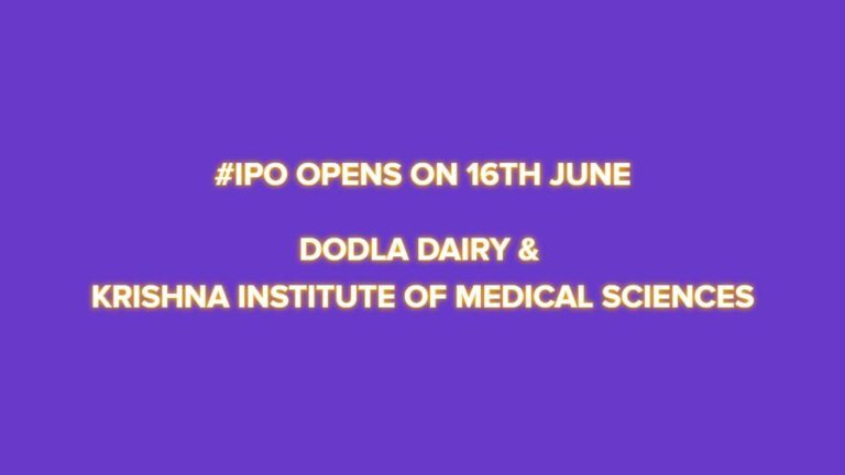 Dodla Dairy & Krishna Institute of Medical Sciences IPO Opens on June 16
